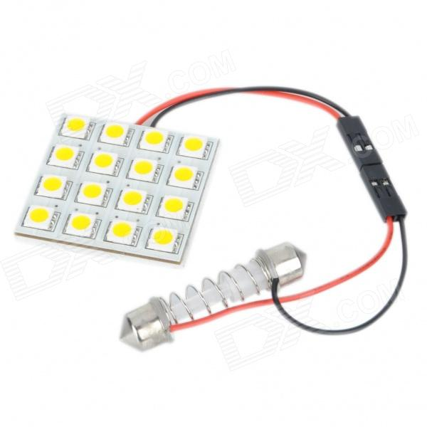 SV85 3W 192LM 3500K 16x5050 Warm White LED Car License Plate/Dome/Reading Lamp (12V) Carrollton Purchase b ad