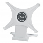 Elegant Desktop Folding 360 Degree Rotating Stand Holder for Ipad 2 - White