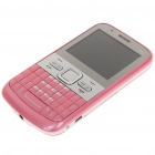 "Q5 2.2"" Triple SIM Triple Network Standby Quadband GSM Qwerty TV Phone w/ JAVA - Pink"