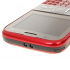 "Q5 2.2"" Triple SIM Triple Network Standby Quadband GSM Qwerty TV Phone w/ JAVA - Red"