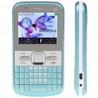 "Q5 2.2"" Triple SIM Triple Network Standby Quadband GSM Qwerty TV Phone w/ JAVA - Blue"