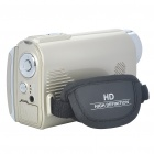 "3.0"" TFT 5.0MP Digital Video Camera Camcorder w/ White 2-LED/2 SD/MMC/TV-Output - Light Gold (32MB)"