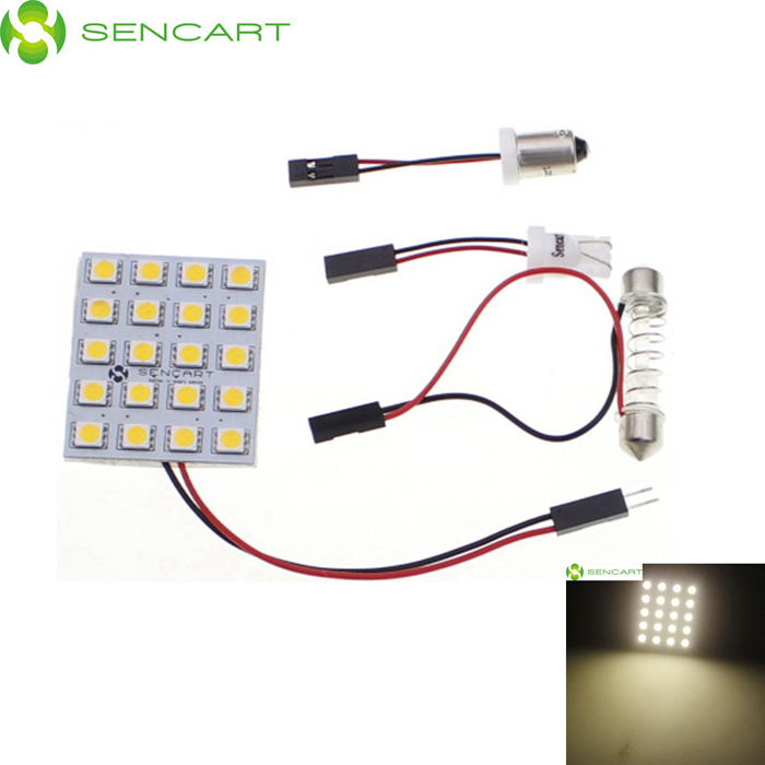 3.6W 20-SMD 5050 LED 240LM 3000-3500K Warm White Light Emitter for Car