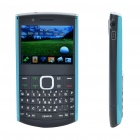 "X2 Qwerty 2.4"" Tri-SIM Tri-Network Standby Quadband GSM Bar Phone w/ FM - Black"