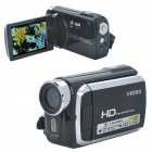 "3.0"" TFT 5.0MP Digital Video Camera Camcorder w/ White 2-LED/2 SD/MMC/TV-Output - Black (32MB)"