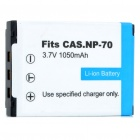 "Designer's Replacement NP-70 3.7V ""1050mAh"" Battery for Casio EX-Z150"