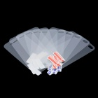 Glossy Front and Back Protective PC Films Stickers Set w/ Cleaning Cloth for iPhone 4 (5-Pairs)