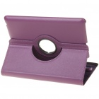 Protective Swivel PU Leather Case for Ipad 2 - Purple
