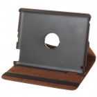 Protective Swivel PU Leather Case for Ipad 2 - Coffee