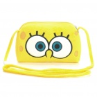 Cute SpongeBob SquarePants Style Plush Shoulder Bag - Yellow