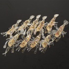 Soft PVC Lifelike Shiny Shrimp Fishing Baits - Transparent (10-Piece)
