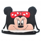 Cute Minnie Style Plush Leisure Shoulder Bag - Black + Pink