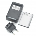 USB/AC Battery Charging Cradle + BP-4L 3.7V 1500mAh Battery + EU Adapter for Nokia Cell Phones