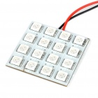 SV85 3W 192LM 590nm 16x5050 SMD LED Yellow Light Car License Plate/Dome/Reading Lamp (12V)