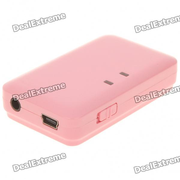 USB Rechargeable Bluetooth V2.0 A2DP V1.2 Audio Receiver - Pink