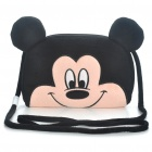 Cute Mickey Style Plush Leisure Shoulder Bag - Black + Pink
