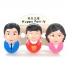 Happy Family Toothbrush Holder Set with Suction Cups