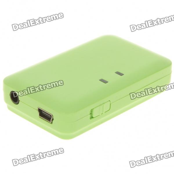 USB Rechargeable Bluetooth V2.0 A2DP V1.2 Audio Receiver - Green