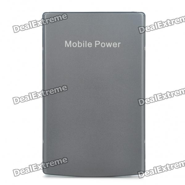 Rechargeable 8000mAh Emergency Power Battery Pack w/ Adapters - Gray