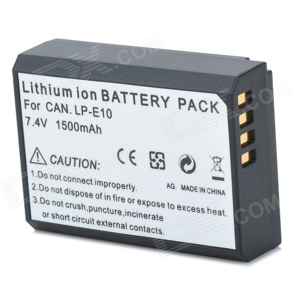 Replacement LP-E10 7.4V 1500mAh Battery Pack for Canon EOS 1100D/KISS X50/Rebel T3 original brand new lp e8 lpe8 battery for canon eos 550d 600d 650d 700d kiss x4 x5 x6i x7i rebel t2i t3i t4i t5i lc e8e camera