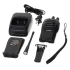 BF-666S 5W 400 ~ 470MHz 16 canais Walkie Talkie w / 1-lanterna LED - Black