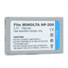 "Replacement Rechargeable 3.7V ""750mAh"" Battery Pack for Minolta DiMAGE X/Xi/Xt"