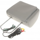 "Car Headrest 7"" LCD DVD Media Player with FM/AV-Out/USB/SD - Grey"