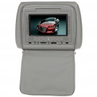 "Car Headrest 7"" LCD DVD Media Player with FM/AV-Out/SD - Grey"