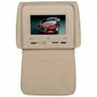 Car Headrest 7' LCD DVD Media Player with FM/AV-Out/USB/SD - Beige