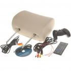 "Car Headrest 7"" LCD DVD Media Player with FM/AV-Out/USB/SD - Beige"