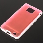 Protective Dual Color Case for Samsung i9100 - Deep Pink + White