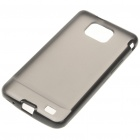 Protective Dual Color Case for Samsung i9100 - Deep Grey + Black