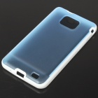 Protective Dual Color Case for Samsung i9100 - Light Blue + White