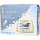 "Car Headrest 7"" LCD DVD Media Player with FM/AV-Out/SD - Beige"