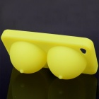 Super Sexy Soft Silicone iBoobies Case & Stand for iPhone 4 - Light Yellow
