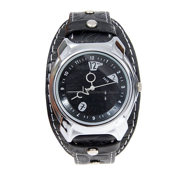 Stylish Black Quartz Wrist Watch