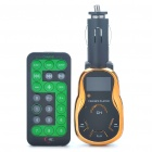 "0.9"" LCD Car MP3 Player w/ Remote Controller/USB/SD/TF - Black + Golden (DC 12~24V)"