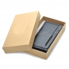 Vintage A-H1002 Genuine Cowhide Leather Cards Holder Wallet - Black