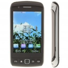 "9860 3.3"" Touch Screen Quad-SIM Quad-Network Standby Quadband GSM TV Cell Phone w/ WIFI - Black"