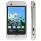 "9860 3.3"" Touch Screen Quad-SIM Quad-Network Standby Quadband GSM TV Cell Phone w/ WIFI - White"