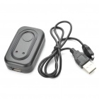 USB Rechargeable1800X Wall Listening Audio Device Listener Bug - Black (3.5mm Jack)