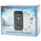 "9860 3.3"" Touch Screen Quad-SIM Quad-Network Standby Quadband GSM TV Cell Phone w/ WIFI - Pink"