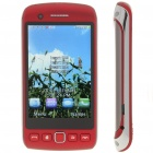 "9860 3.3"" Touch Screen Quad-SIM Quad-Network Standby Quadband GSM TV Cell Phone w/ WIFI - Deep Red"