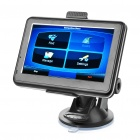 "4.3"" Touch Screen LCD WinCE 6.0 GPS Navigator w/ FM + Europe Maps 4GB SD Card - Black"