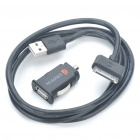 Genuine Griffin Car Charger + USB Data & Charging Cable for iPad/iPhone (12~16V)