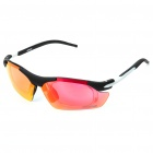 Cool UV Protection Resin Frame PC Lens Sports Sunglasses w/ Replacement Lens Set