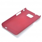 Protective Matte Frosted ABS Back Case for Samsung Galaxy S2 i9100 - Red