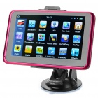 "5.0"" Touch Screen LCD WinCE 6.0 GPS Navigator w/ FM + Internal 4GB Europe Maps - Black + Deep Pink"