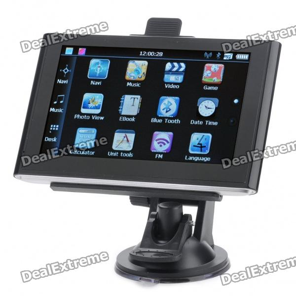 "TG508 5.0"" Touch Screen LCD WinCE 5.0 GPS Navigator w/ Bluetooth/FM/AV-In/4GB Brazil Maps - Black"