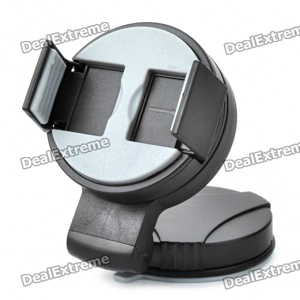 Mini Universal Car Swivel Suction Cup Mount Holder Cell Phone/GPS/MP4 - Black + Grey